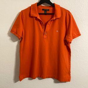 Ralph Lauren Orange Polo Golf Preppy Shirt sz XL
